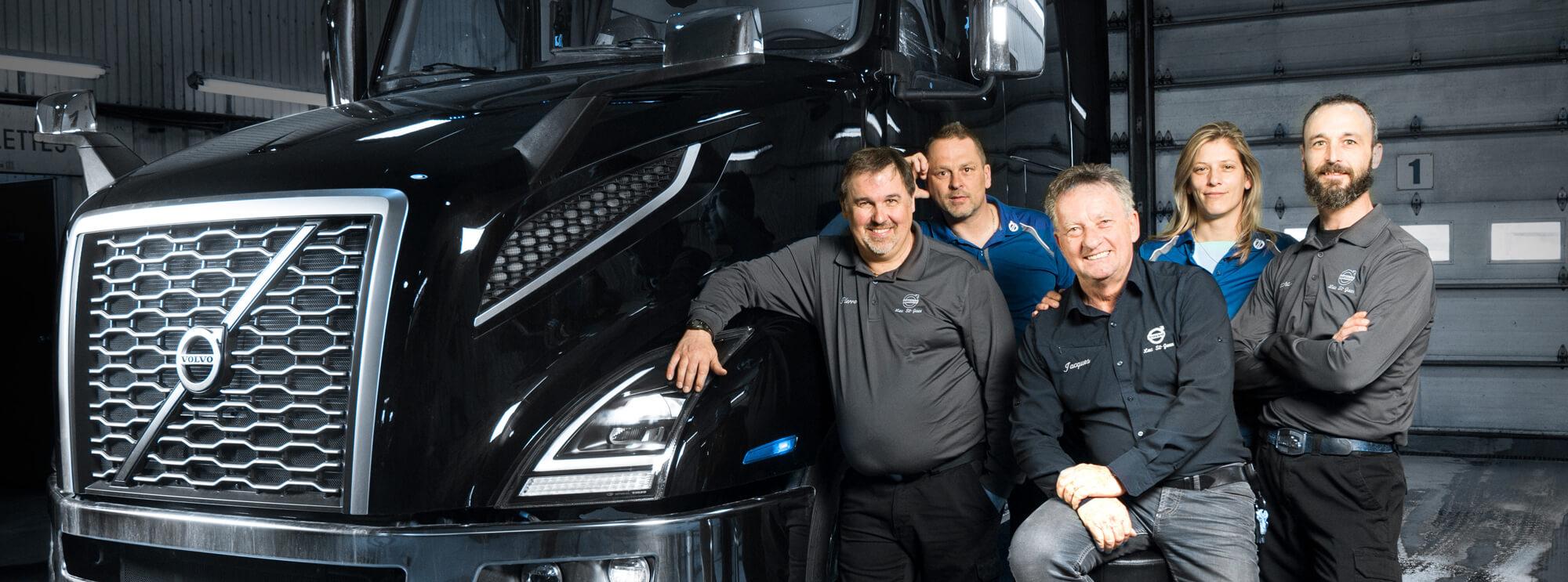 L'équipe de direction Volvo Lac St-Jean